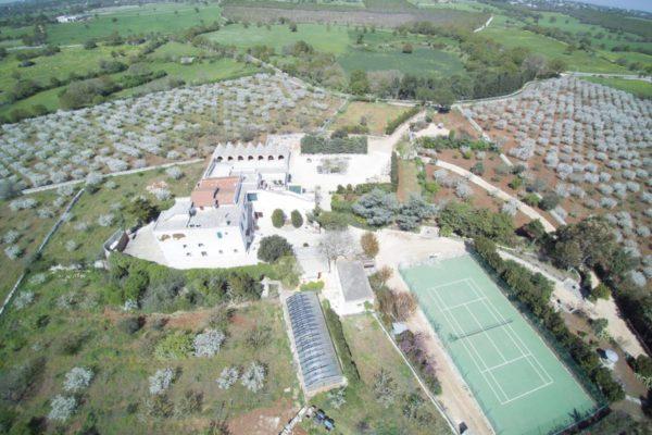 Masseria Guadiano Vecchio - Storia e Servizi - Veduta Aerea - www.masseriaguadiano.com - Monopoli (BA) - Puglia - Italy